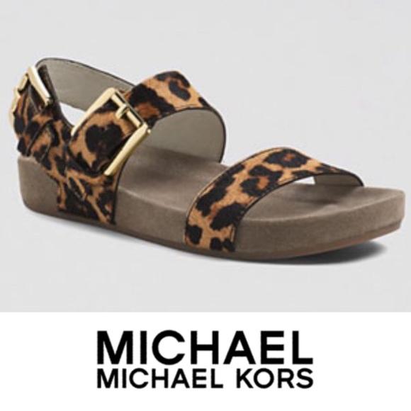 Michael By Mk Birkenstock Cheetah Calf
